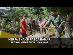 Pasca Banjir Pemkab Lumajang Terjunkan Tim Untuk Gotong Royong