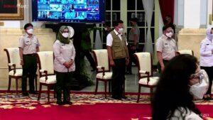 Pembukaan Rakornas Penanggulangan Bencana Tahun 2021, 3 Maret 2021, di Istana Negara, Provinsi DKI Jakarta
