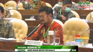 Raker DPR RI Komisi IV Dengan Mentri Pertanian